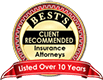 Best's Client Recommended Insurance Attorneys for Over 10 Years